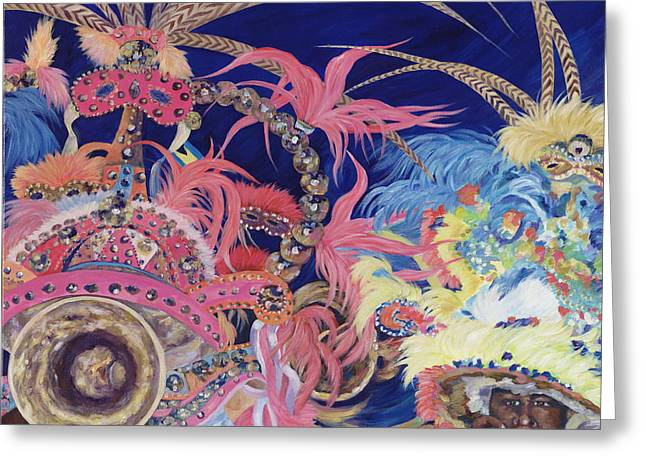 Danielle Perry Paintings Greeting Cards - Junkanoo Greeting Card by Danielle  Perry