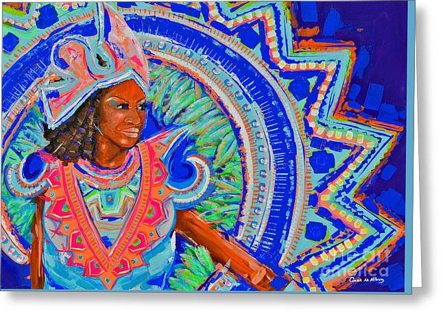 Junkanoo Greeting Card by Paola Correa de Albury