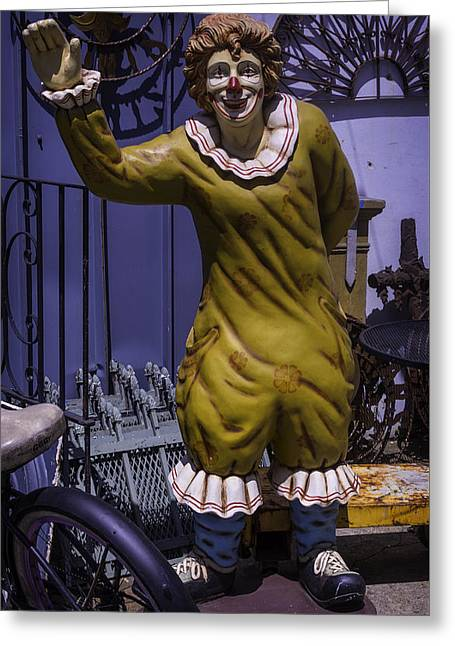 Junkyard Greeting Cards - Junkyard Clown Greeting Card by Garry Gay