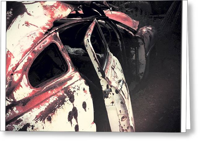 Photograph Greeting Cards - Junkyard Greeting Card by Kelly Jade King