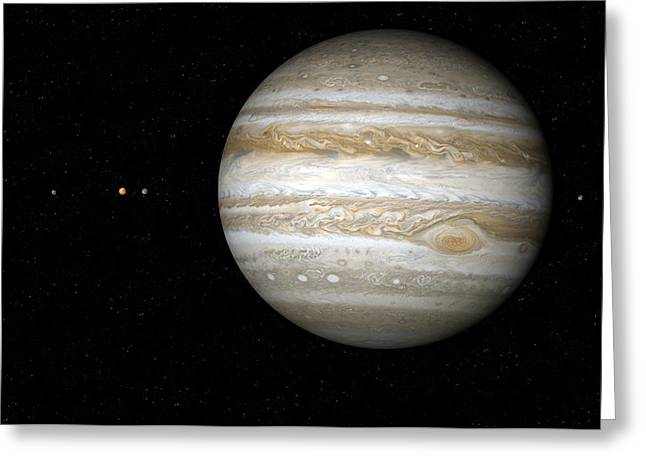 Jupiter Greeting Cards - Jupiter, Artwork Greeting Card by Detlev Van Ravenswaay