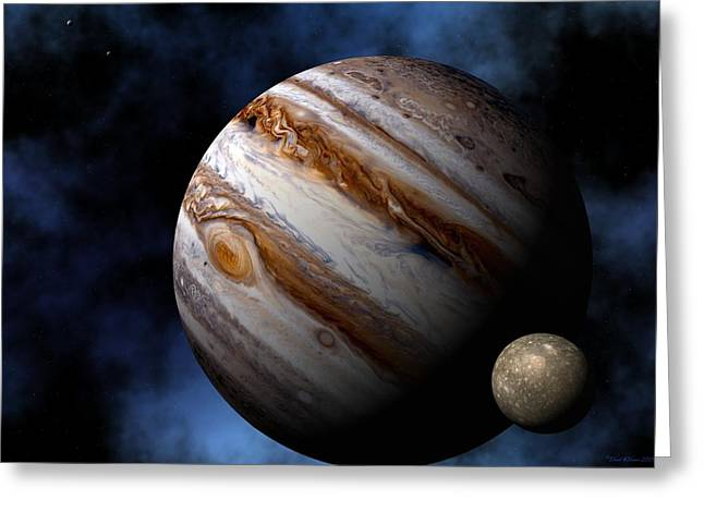 Jupiter Greeting Card by David Robinson