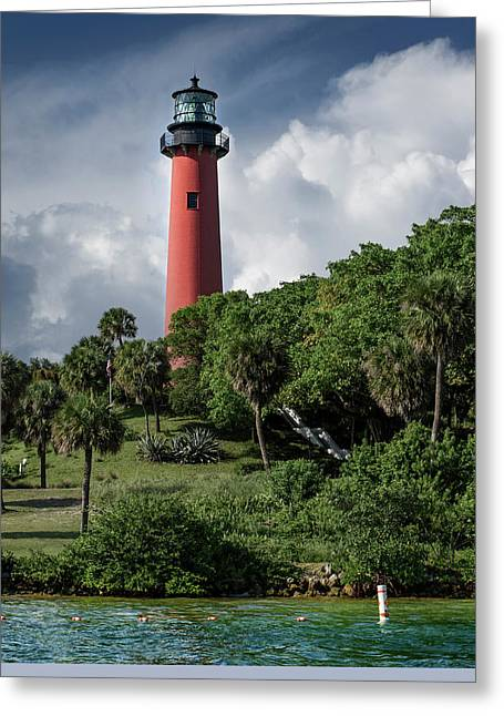 Recently Sold -  - Popular Art Greeting Cards - Jupiter Inlet Lighthouse Greeting Card by Laura  Fasulo