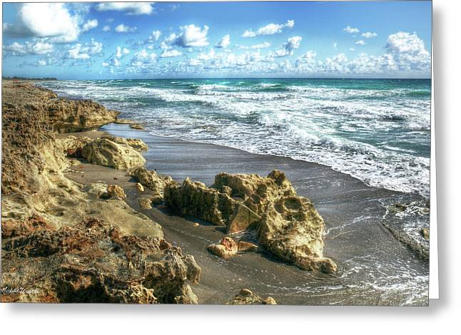 Photomatix Pro Greeting Cards - Jupiter Island Blowing Rocks Preserve Florida Greeting Card by Michelle Wiarda
