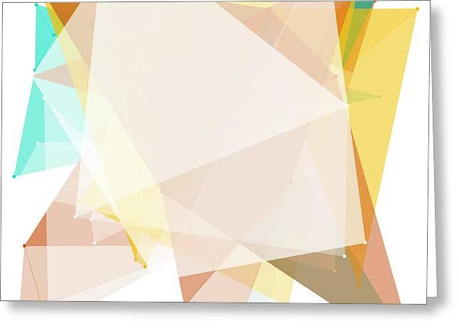 Jura Polygon Pattern Greeting Card by Frank Ramspott