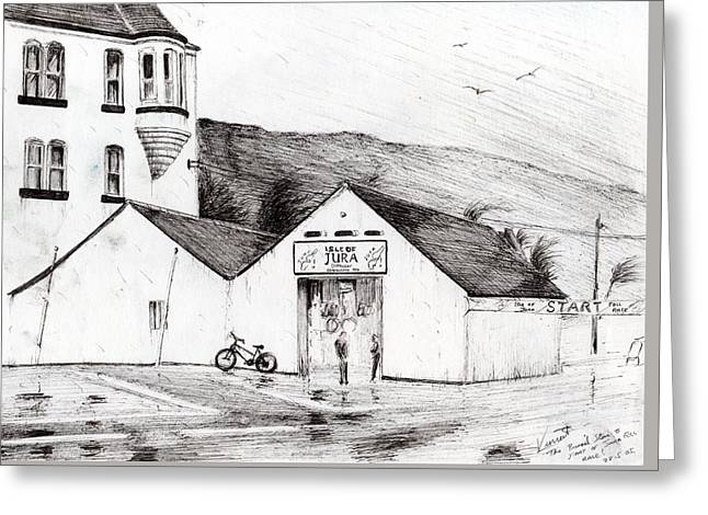 Jura Race Start Whiskey Distillery Greeting Card by Vincent Alexander Booth
