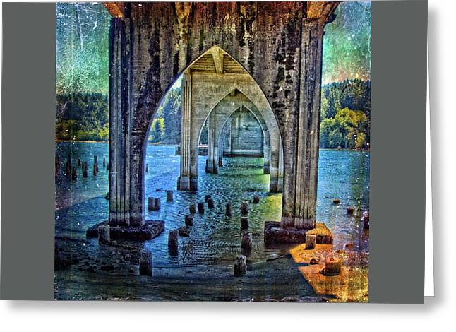 Beautiful Scenery Greeting Cards - Just A Bridge Greeting Card by Thom Zehrfeld