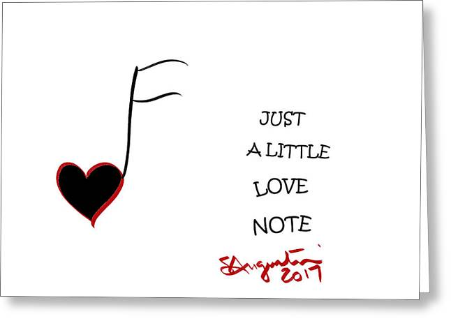 Just A Little Love Note Greeting Card by Sharon Augustin