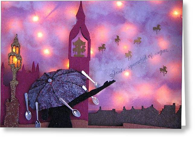 Night Lamp Greeting Cards - Just A Spoonful of Sugar Greeting Card by Julia and David Bowman