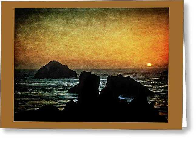 Just About Sunset Greeting Card by Thom Zehrfeld
