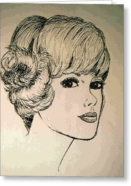 Pen And Paper Greeting Cards - Just Another Pretty Face Greeting Card by Brian Wallace