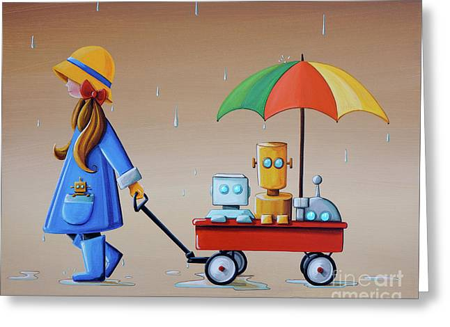 Just Another Rainy Day Greeting Card by Cindy Thornton