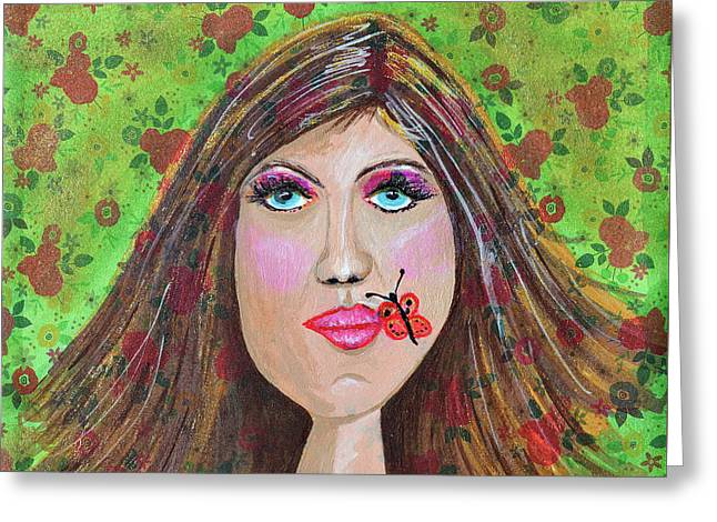Just Been Kissed Greeting Card by Donna Blackhall
