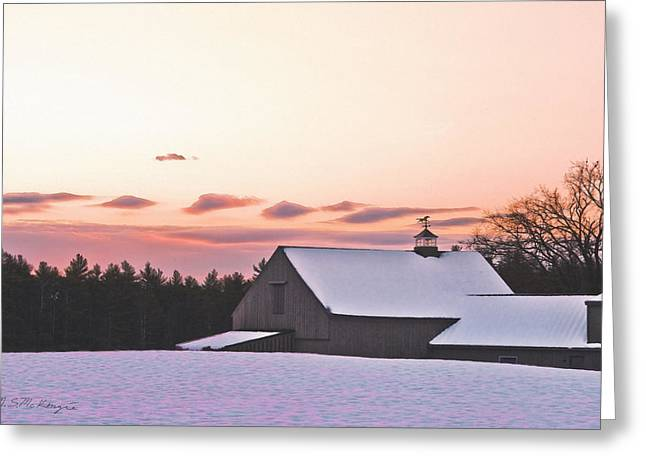 Just Before Christmas Greeting Card by M S McKenzie