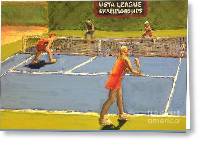 Sports Paintings Greeting Cards - Just before noon Greeting Card by Leslie Dobbins
