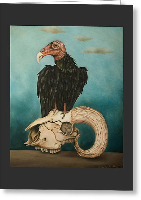 Surreal Humor Greeting Cards - Just Bones Greeting Card by Leah Saulnier The Painting Maniac