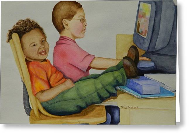 Video Game Life Greeting Cards - Just Chillin Greeting Card by Terry Honstead