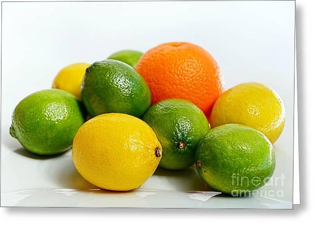 Just Citrus By Kaye Menner Greeting Card by Kaye Menner