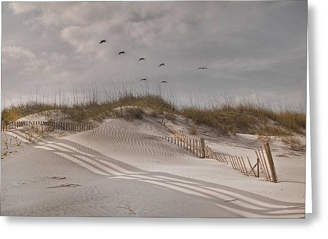 Peaceful Scene Greeting Cards - Just for You Outer Banks NC Greeting Card by Betsy C  Knapp
