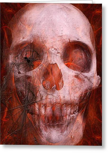 Halloween Greeting Cards - Just Grining Greeting Card by Jean Gugliuzza