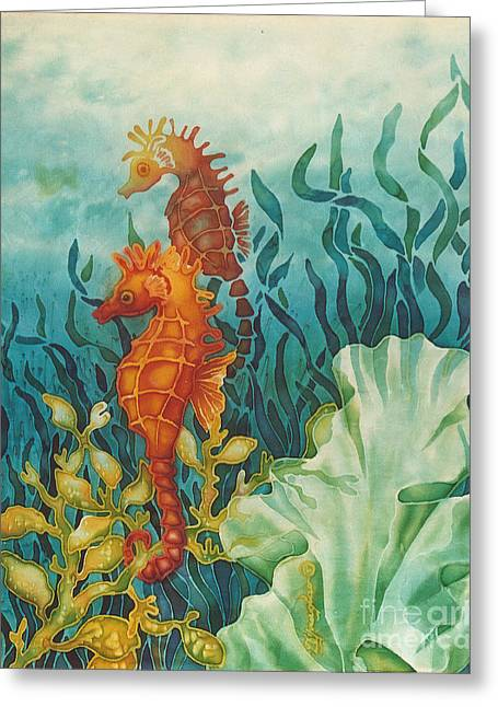 Recently Sold -  - North Sea Greeting Cards - Just Hangin On Greeting Card by Deborah Younglao