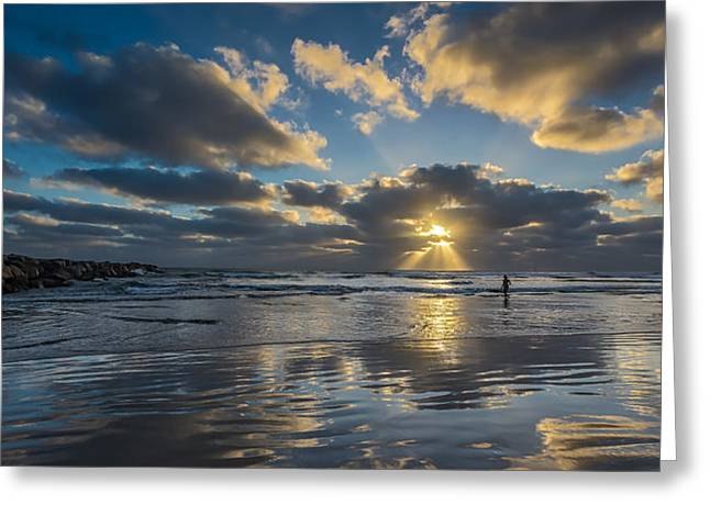 Surf Lifestyle Greeting Cards - Just Her and Me Greeting Card by Peter Tellone