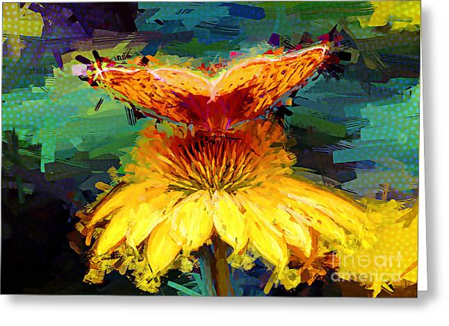 Paintng Greeting Cards - Just Jazzy Greeting Card by Tina  LeCour