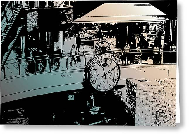 Just Like Clockwork Greeting Card by Mary Knaggs