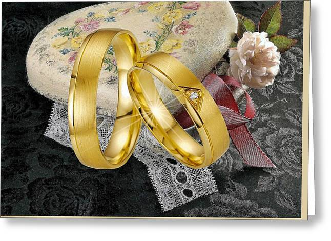 Just Married 2 Greeting Card by Manfred Lutzius