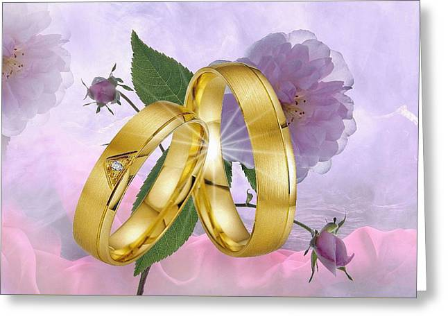 Just Married-wedding 2 Greeting Card by Manfred Lutzius