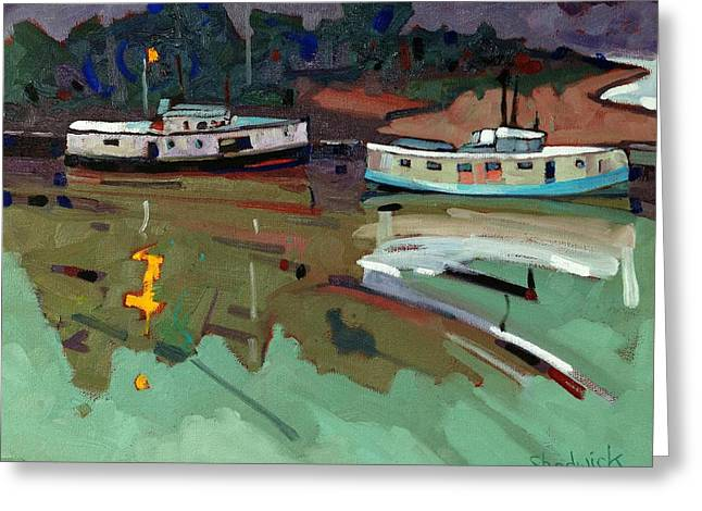Canoeist Greeting Cards - Just n Time Greeting Card by Phil Chadwick