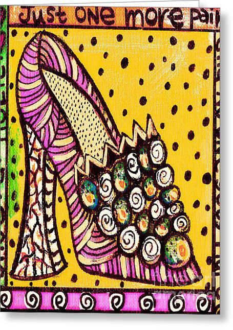 -shoe.a.holic - Hurt Greeting Card by Sandra Silberzweig