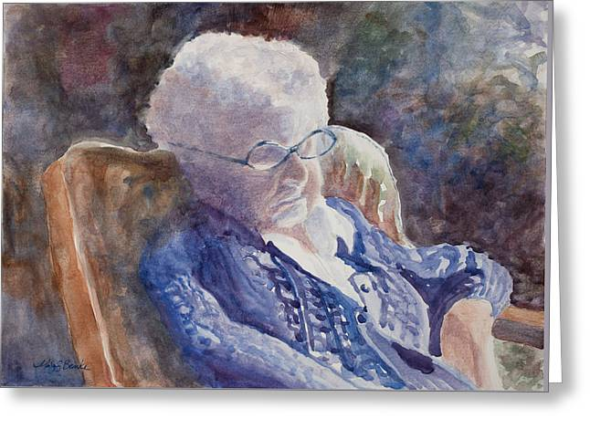 Just Resting My Eyes Greeting Card by Mary Benke