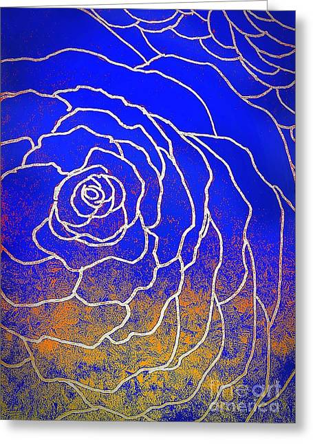 Just Rosy Greeting Card by Anne Sands