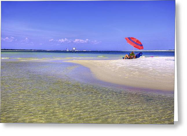 Florida Panhandle Greeting Cards - Just the Right Spot Greeting Card by JC Findley