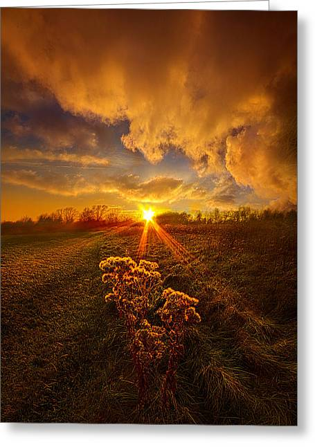 Just You And I Greeting Card by Phil Koch