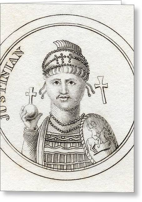 Justinian Greeting Cards - Justinian I Or Justinian The Great Greeting Card by Ken Welsh