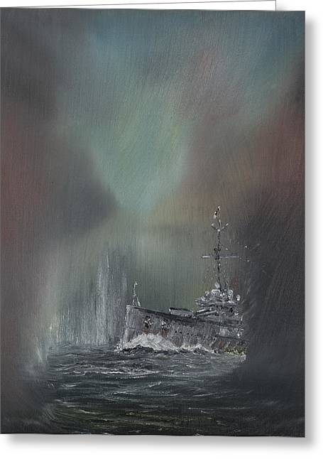 Wwi Paintings Greeting Cards - Jutland Greeting Card by Vincent Alexander Booth