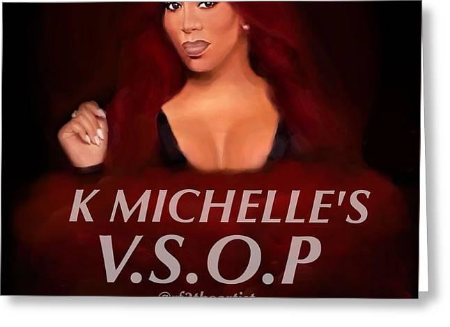 Michelle Greeting Cards - K. Michelle  Greeting Card by Robert Fairley III
