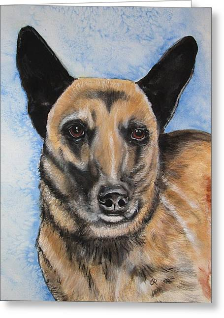 Guard Dog Greeting Cards - K9 Officer Keelo EOW 06.11.15 Greeting Card by Carol Blackhurst