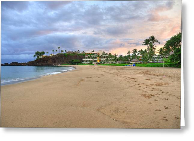 Ka'anapali Beach Hotel  Greeting Card by Kelly Wade