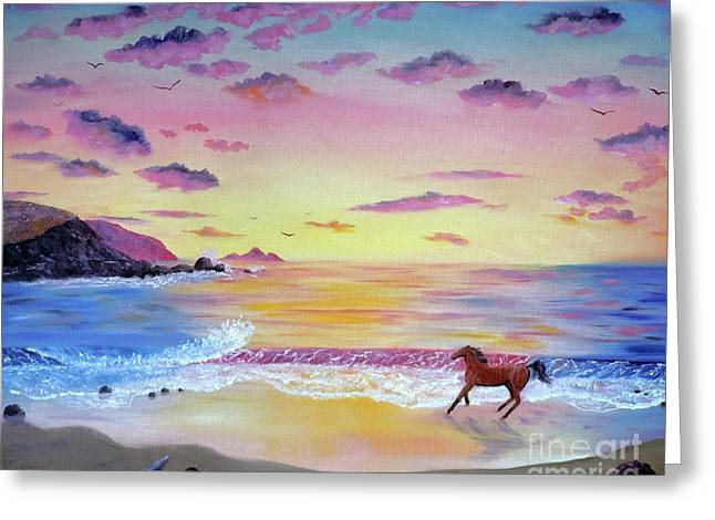 Half Moon Bay Greeting Cards - Kachina at Rockaway Beach Greeting Card by Laura Iverson
