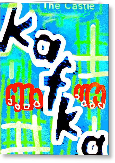 Kafka Digital Greeting Cards - Kafkas The Castle Poster Greeting Card by Paul Sutcliffe