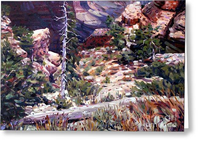 Kaibab Trail Greeting Card by Donald Maier