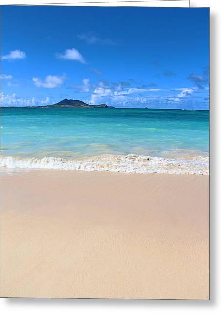 Kerri Ligatich Greeting Cards - Kailua Beach Hawaii Greeting Card by Kerri Ligatich