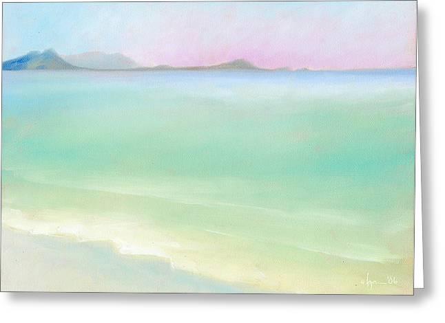Kailua Sunrise Greeting Card by Angela Treat Lyon