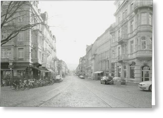 Loose Style Photographs Greeting Cards - Kaiser Joseph Strasse in Freiburg Greeting Card by Marcio Faustino