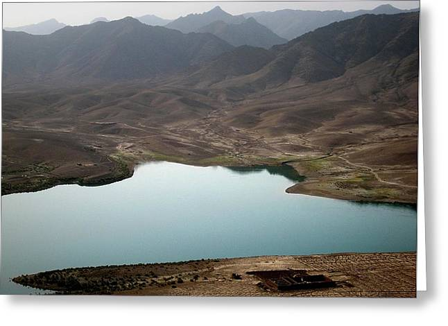 Helmand Province Greeting Cards - Kajaki Lake in Helmand Province Afghanistan Greeting Card by Jetson Nguyen