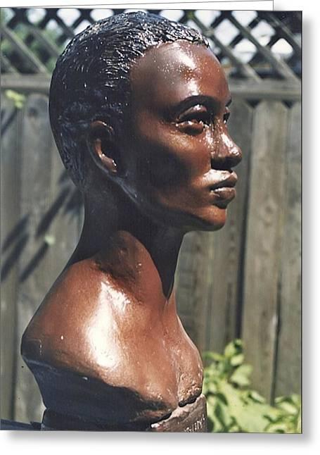 African Sculptures Greeting Cards - Kalahari Princess 1 Greeting Card by Vincent von Frese