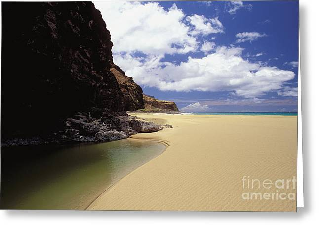 Shades State Park Greeting Cards - Kalalau Beach, Empty Greeting Card by Peter French - Printscapes